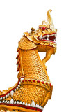 statue king of nagas in front of buddhism temple, Thailand poster