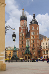 Saint Mary's church in Krakow, Poland