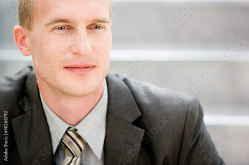 Businessman contemplating, close-up