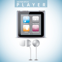 Portable media player editable vector file