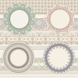 vector  lacy napkins on seamless pattern