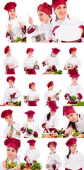 Female Cook Collage