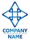 3D four blue triangle logo