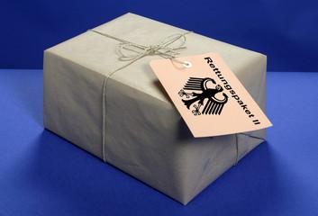 Symbolfoto des Rettungspaketes II der Bundesregierung (Montage)