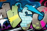 Fototapete Grunge - Hintergrund - Graffiti