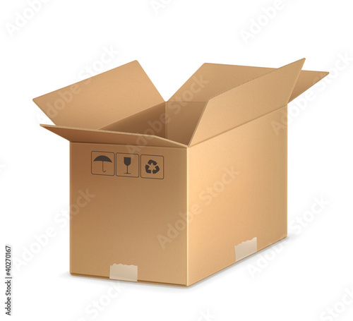 Open carton box