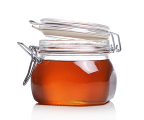 Jar with fresh honey