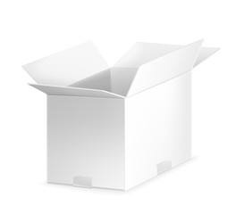 White open carton box