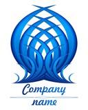 3D blue feather logo