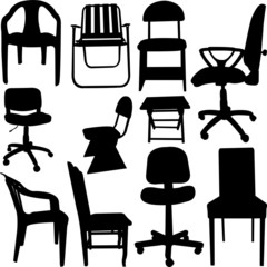 chair collection - vector