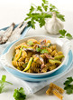 fusilli with anchovies and zucchinis
