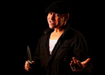 knife wielding mugger