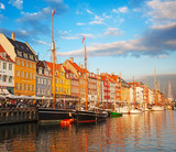 Fototapety Copenhagen (Nyhavn district) in a sunny summer day