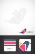 Vector bird icon design and business card templates