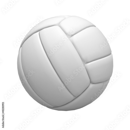 Blank volley ball on white background
