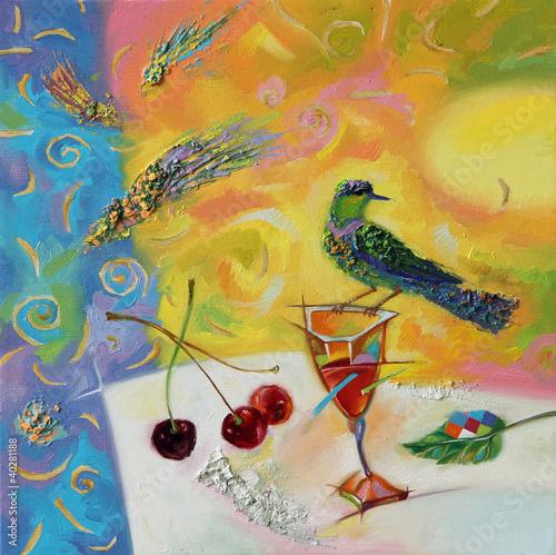 Plakat oil paints picture