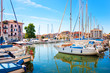Beautiful scene of boats in Grado, Italy