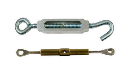 two turnbuckles on a white background