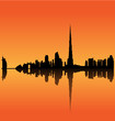Detailed vector Dubai silhouette skyline