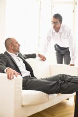 Business people conversing
