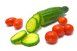 cherry tomatoes and cucumber