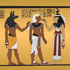 Tutankhamen - fresco