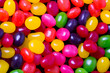 Jelly bean background closeup