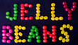 Jelly Beans sign on black