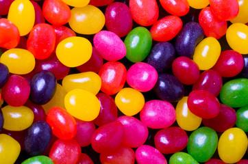 Jelly bean background closeup