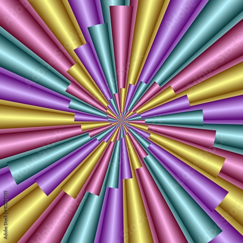 Papiers peints Spirale Multicolored Spiral
