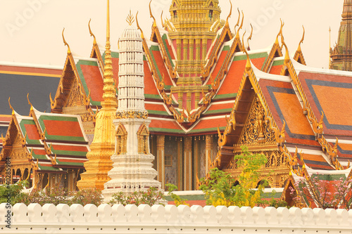 Wat Phra Kaeo in The Morning