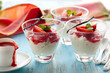 rice pudding with strawberry