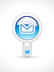 abstract glossy mail button