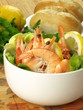 Dietary dish with prawns