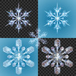 Christmas Snowflake design elements