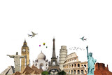 Fototapety Travel the world monuments concept 6
