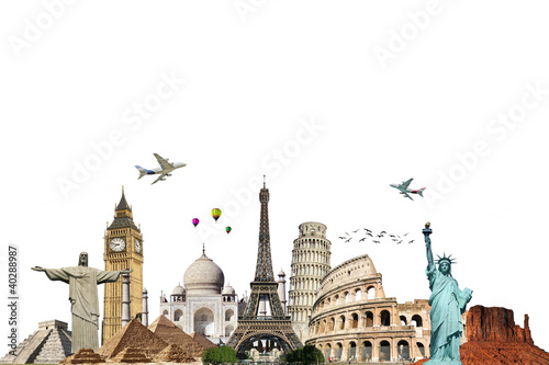 Travel the world monuments concept 6