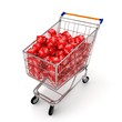 3d shopping cart with discount cubes