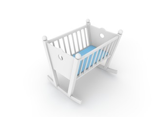 white crib for baby boy