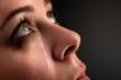 Leinwanddruck Bild - beauty girl cry