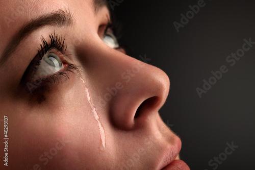 Leinwanddruck Bild beauty girl cry