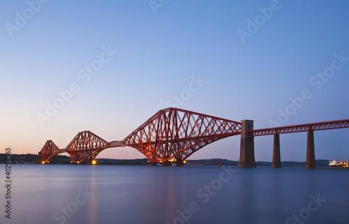 Zdjęcia na płótnie, fototapety, obrazy : The Forth Rail Bridge crossing between Fife and Edinburgh, Scotl