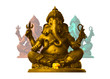 Golden Ganesha, God of Hindu