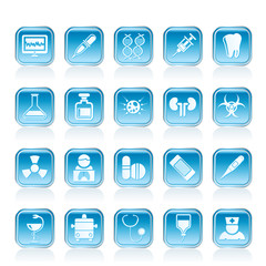 Healthcare, Medicine and hospital icons