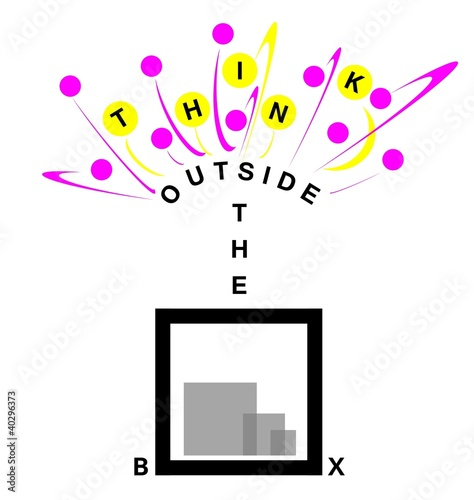 think outside the box for creative solutions