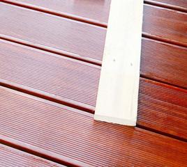 Geölte Bangkirai Terrasse