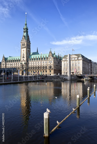 Town Hall, Rathaus, Hamburg, Germany