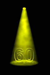 Yellow number 60