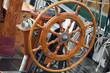 Steuer auf einem Segelschiff