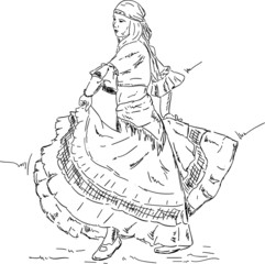 Woman  Flamenco dancer